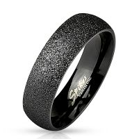62 (19.7) Sandblasted black ring stainless steel women...
