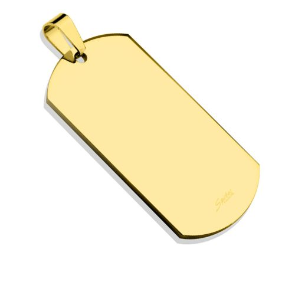 Gold - Anhänger Dog Tag aus Edelstahl Unisex