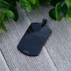 Schwarz - Anhänger Dog Tag aus Edelstahl Unisex