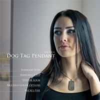 Rosegold - Anhänger Dog Tag aus Edelstahl Unisex