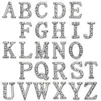 A - Anhänger Buchstaben Silber aus Edelstahl Unisex