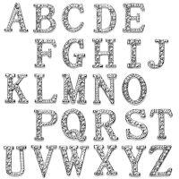 F - Anhänger Buchstaben Silber aus Edelstahl Unisex