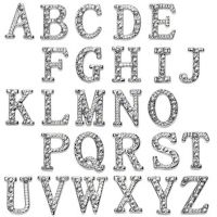 N - Anhänger Buchstaben Silber aus Edelstahl Unisex