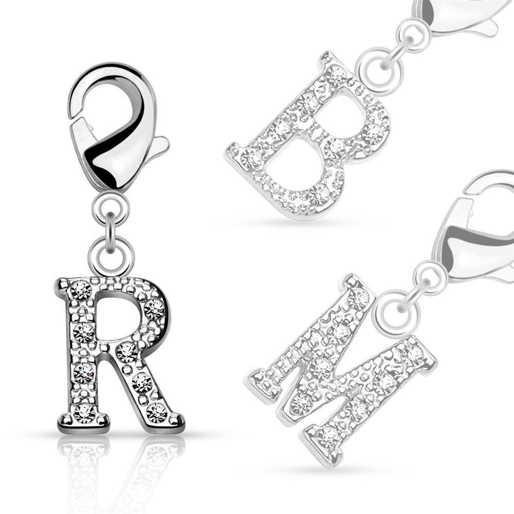 R - Anhänger Buchstaben Silber aus Edelstahl Unisex