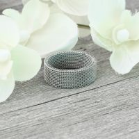 Ring flexibel Silber aus Edelstahl Unisex