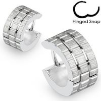 Hoop earrings silver design made of stainless steel for...