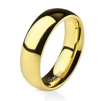 Classic gold ring made of stainless steel unisex