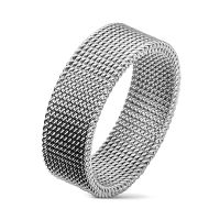 70 (22.3) flexible ring mesh stainless steel silver for...