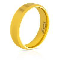 49 (15.6) Ring abgerundete Kanten Gold aus Edelstahl Unisex