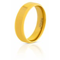 52 (16.6) ring rounded edges gold made of stainless steel...