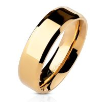 54 (17.2) rose gold stainless steel ring with rounded...