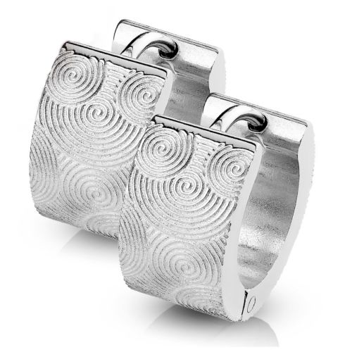 Hoops spirals silver made of stainless steel unisex