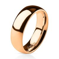 52 (16.6) rose gold ring narrow stainless steel for women...