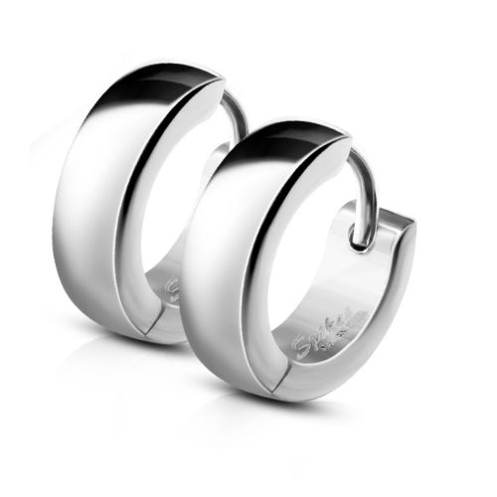 Creolen mit Clipverschluss Silber aus Edelstahl Unisex
