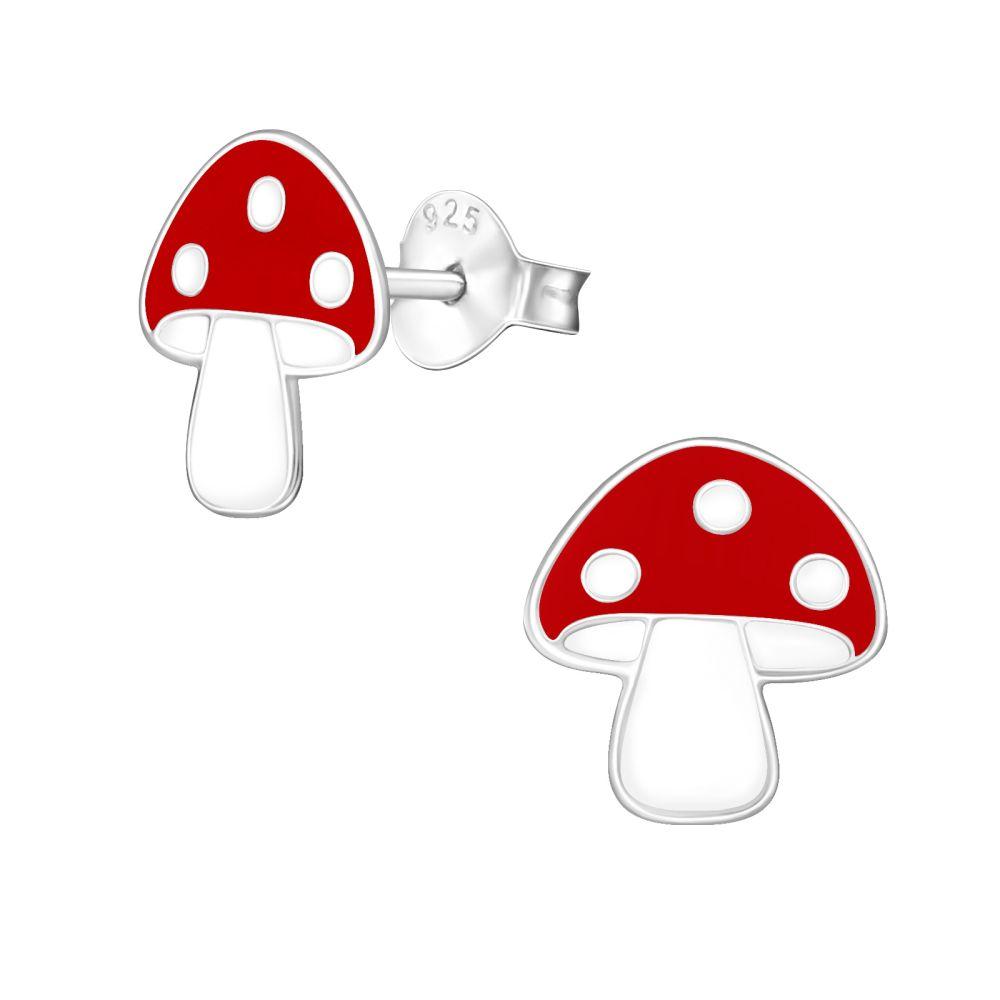 Ohrstecker Pilz aus .925 Silber Kinder