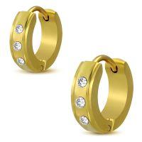 Creolen Multikristall mit abgesetzten Rändern gold...