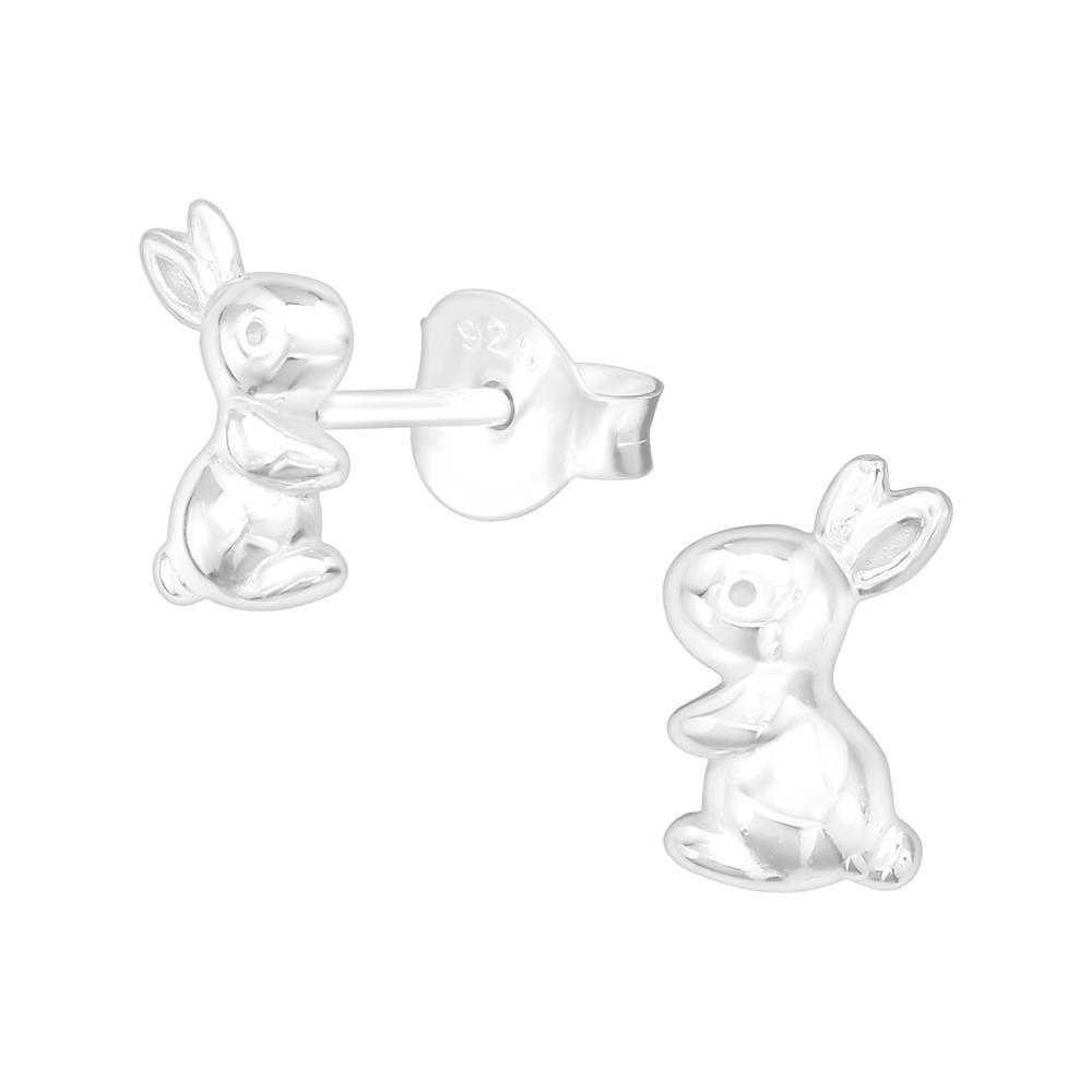 Ohrstecker Hase aus .925 Silber Kinder