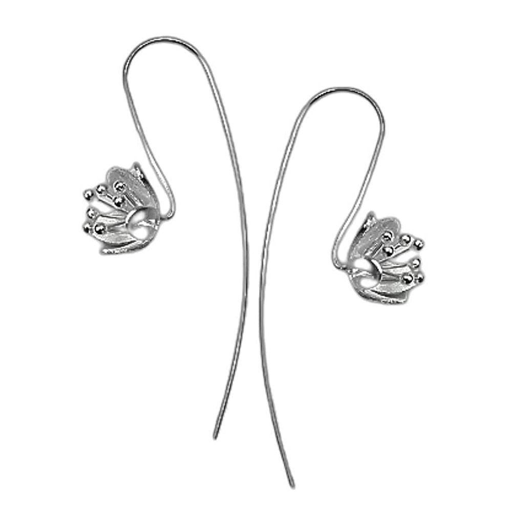 Ohrhänger große Blume aus .925 Silber Damen