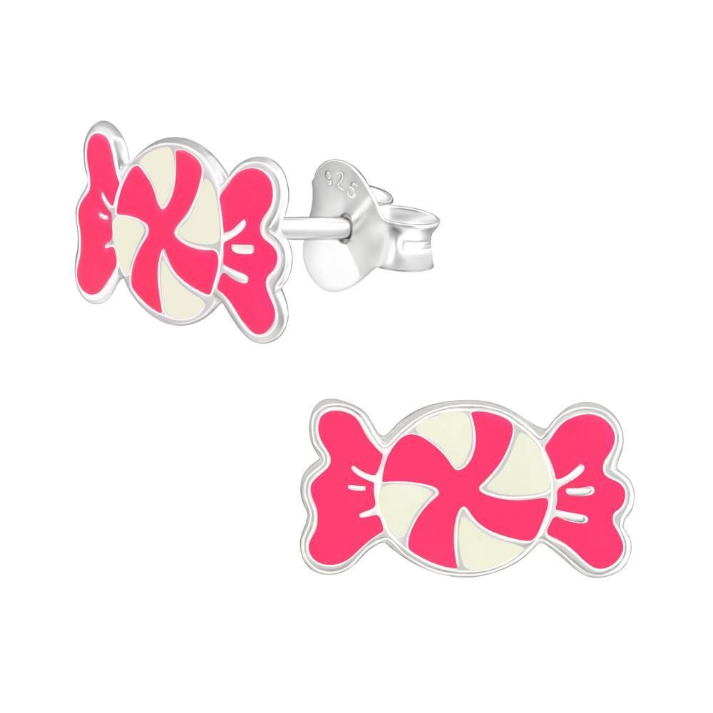 Ohrstecker Bonbon pink aus .925 Silber Kinder