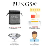 Ohrstecker rosaner Kristall Silber aus Edelstahl Unisex
