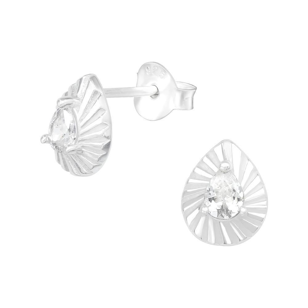 Ohrstecker Kristalltropfen aus .925 Silber Damen