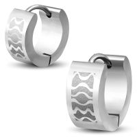 Creolen Waves 6mm Silber aus Edelstahl Unisex