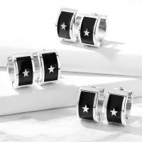 Creolen Sterne Silber aus Edelstahl Unisex