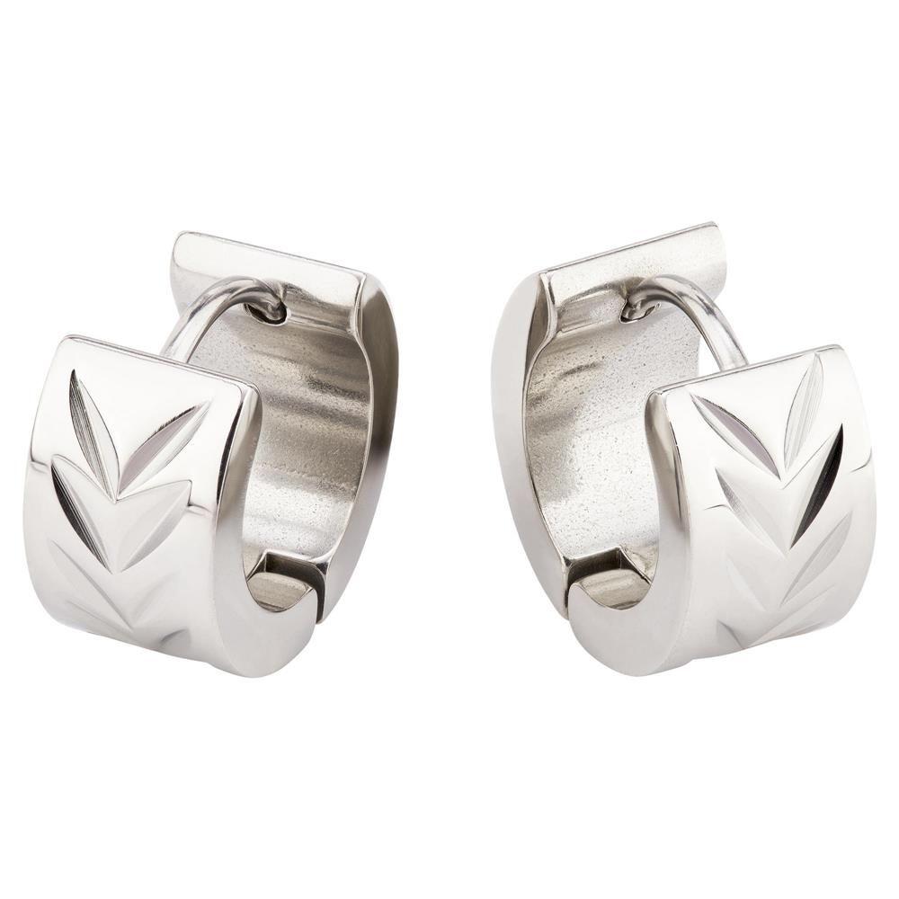 Creolen Diamantschliff Silber aus Edelstahl Unisex