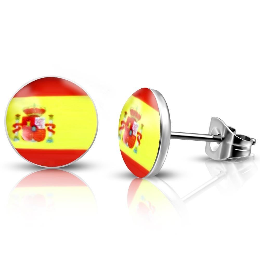 Ohrstecker Spanien Silber aus Edelstahl Unisex