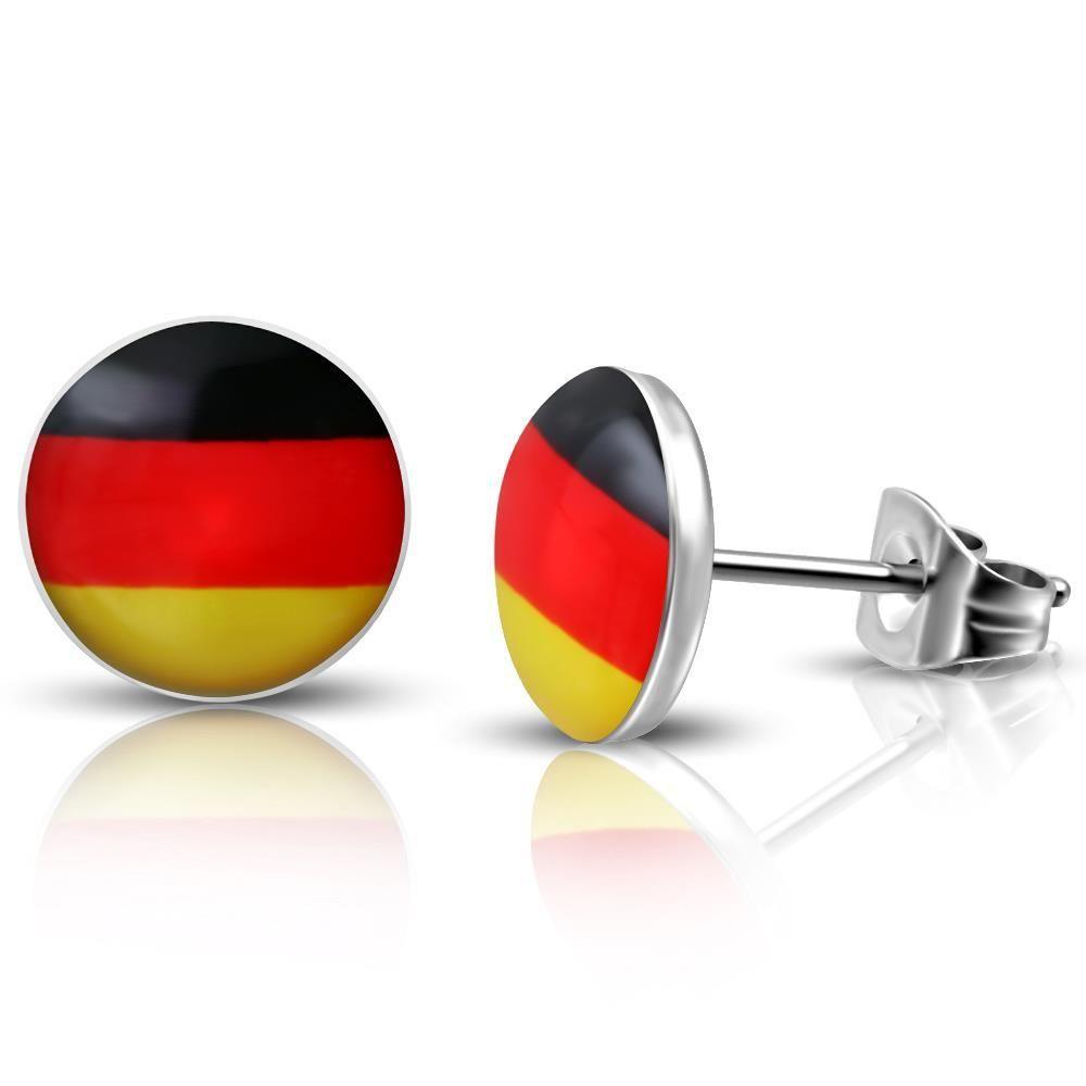 Ohrstecker Deutschland Silber aus Edelstahl Unisex