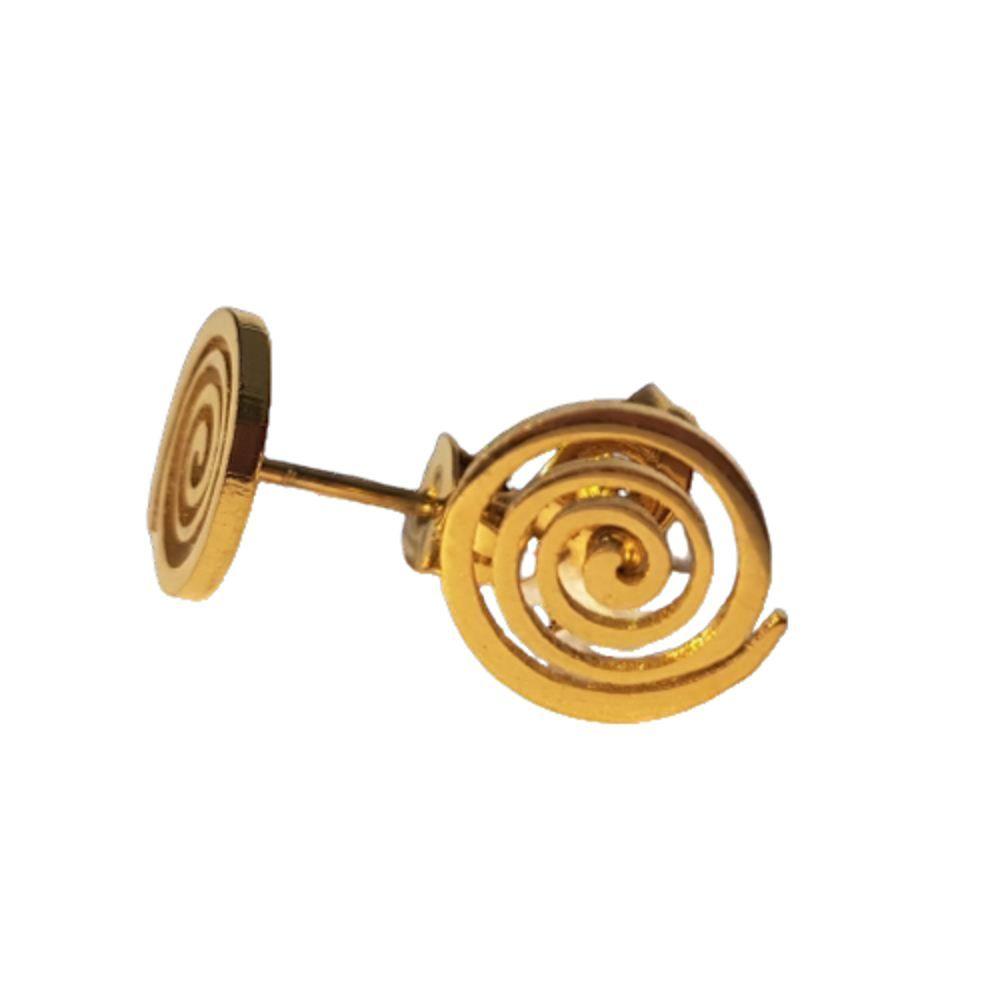 Ohrstecker Spirale gold aus Edelstahl Damen