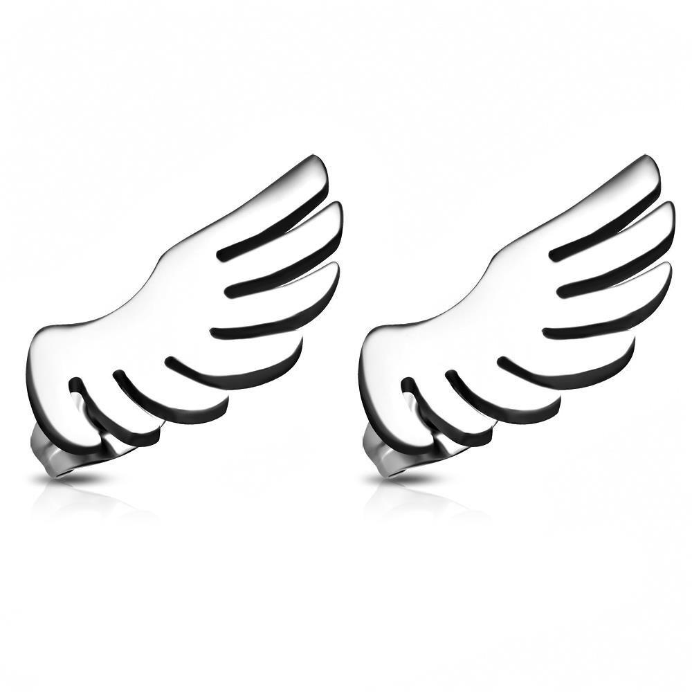 Ohrstecker Engelsflügel Silber aus Edelstahl Unisex