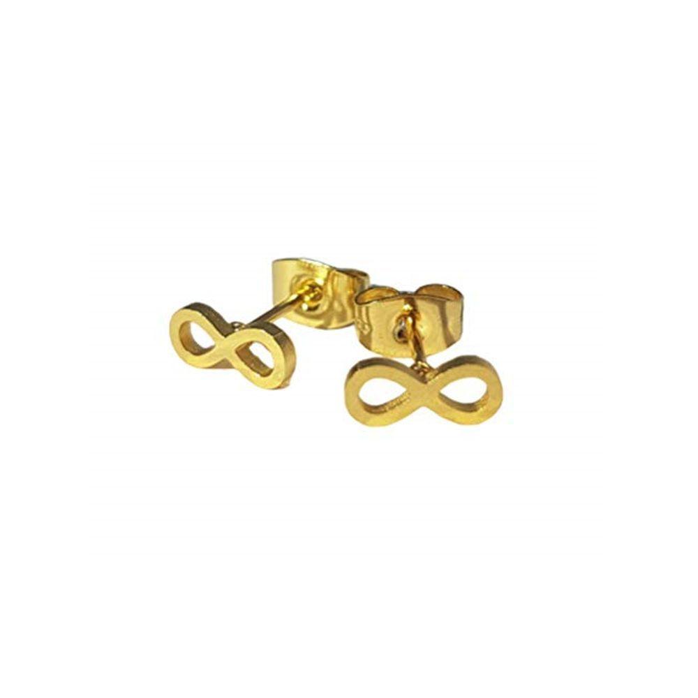 Ohrstecker Infinity gold aus Edelstahl Damen
