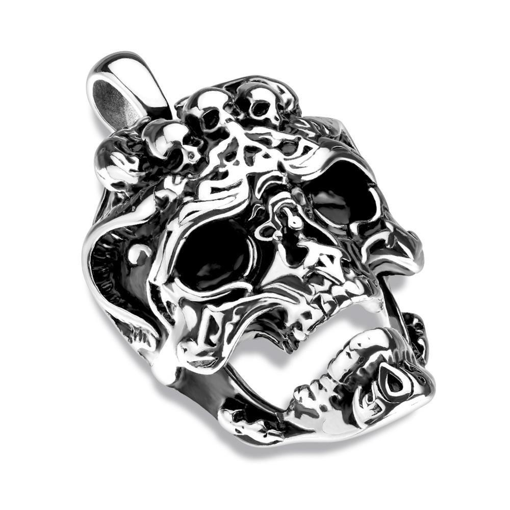Anhänger Totenschädel Silber aus Edelstahl Unisex