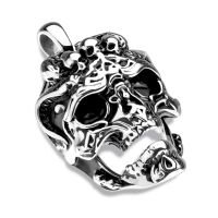 Pendant pistol silver made of stainless steel unisex