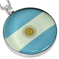 Pendant Argentina flag silver made of stainless steel unisex