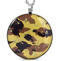 Pendant camouflage camouflage colors made of stainless...