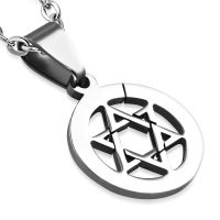 Pendant Star of David silver made of stainless steel unisex