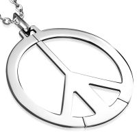 Pendant Peace XXL silver made of stainless steel unisex