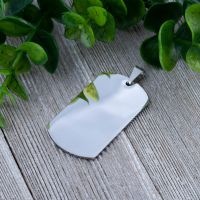 Pendant army dog ??tag silver made of stainless steel unisex