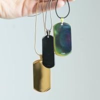 Anhänger Armee Erkennungsmarke Silber aus Edelstahl Unisex