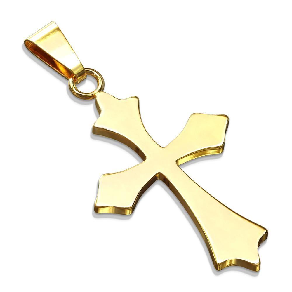Anhänger Keltenkreuz Gold aus Edelstahl Unisex