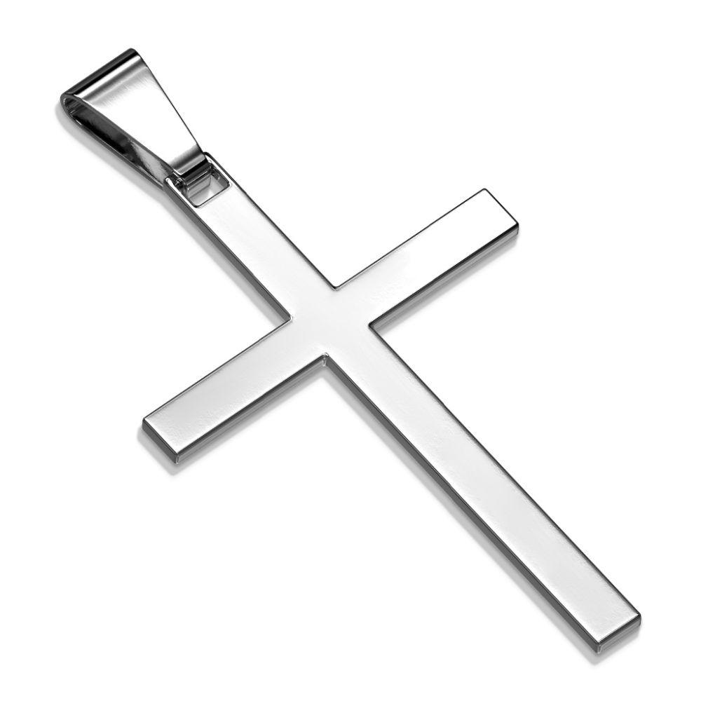 Anhänger Kreuz Silber aus Edelstahl Unisex