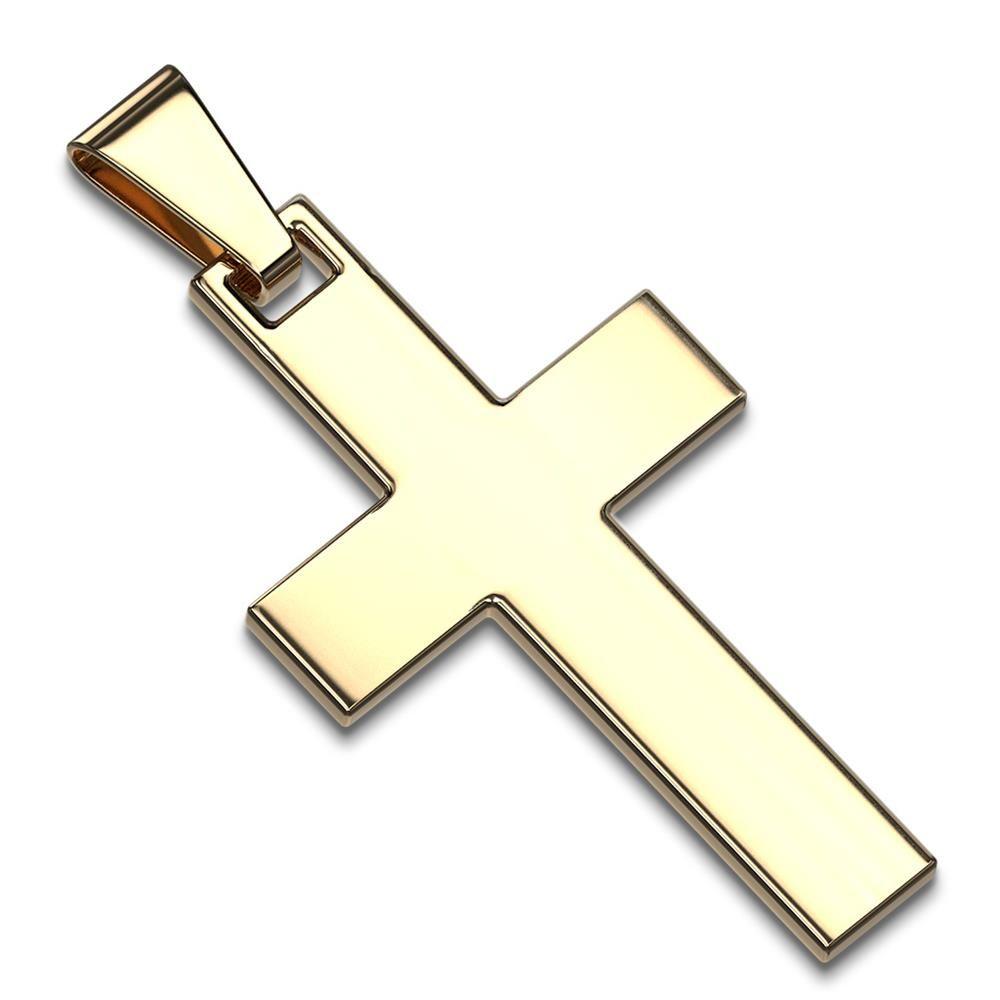 Anhänger Kreuz Gold aus Edelstahl Unisex