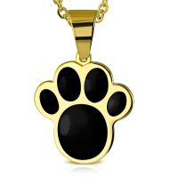 Pendant paw gold made of stainless steel unisex