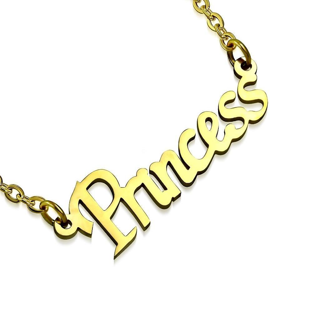 Kette Prinzessin Gold aus Edelstahl Unisex