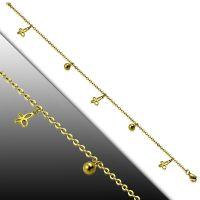 Bettelarmband Schmetterling Gold aus Edelstahl Damen