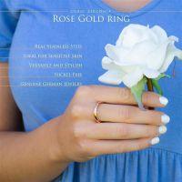 Ring mit Kristall Rosegold aus Edelstahl Damen