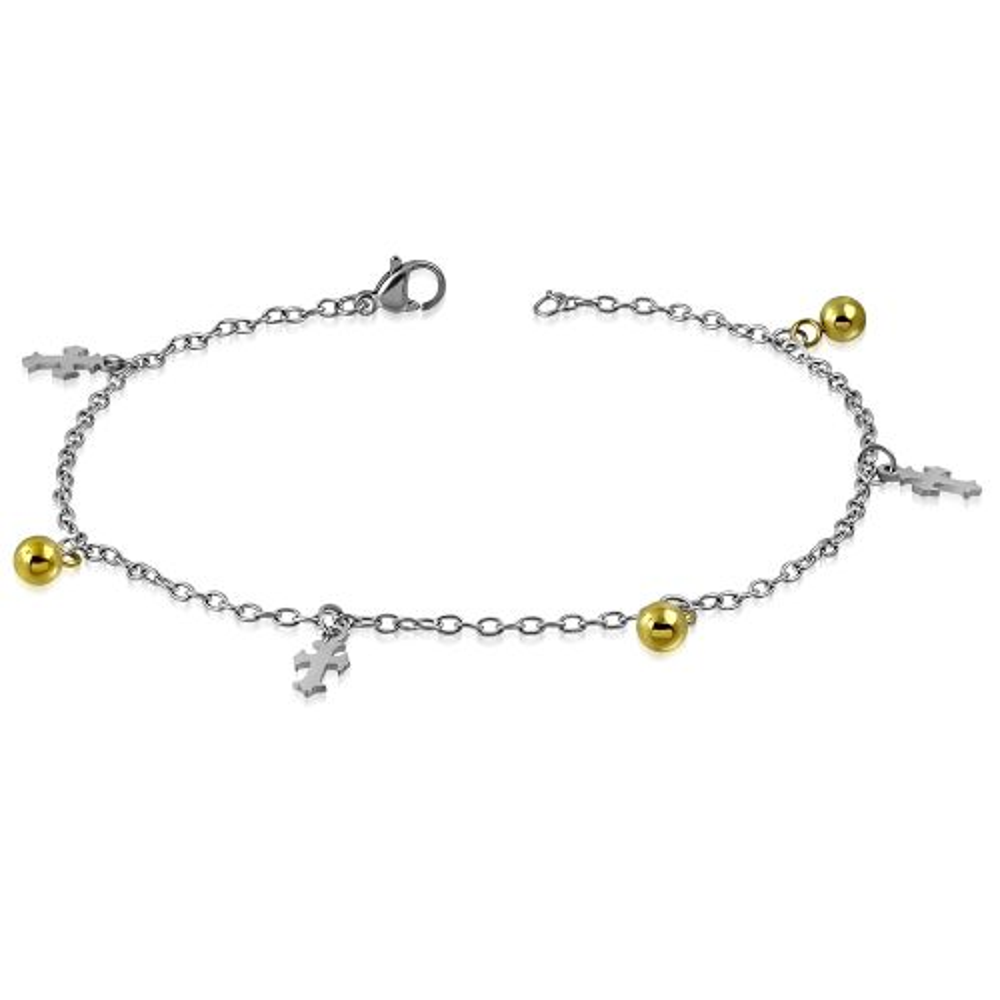 Bettelarmband Fleur de Lis Silber aus Edelstahl Damen