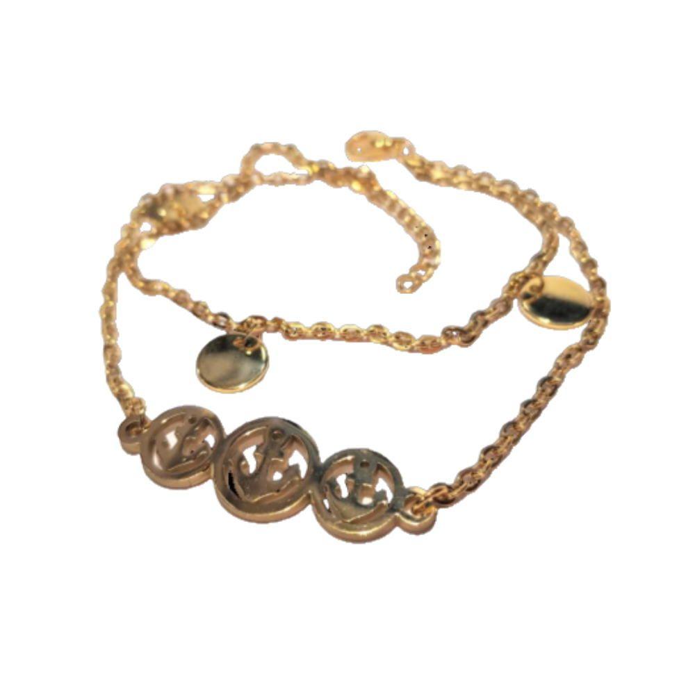 Bettelarmband Anker gold aus Edelstahl Damen